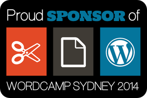 I'm sponsoring at WordCamp Sydney September 27-28, 2014